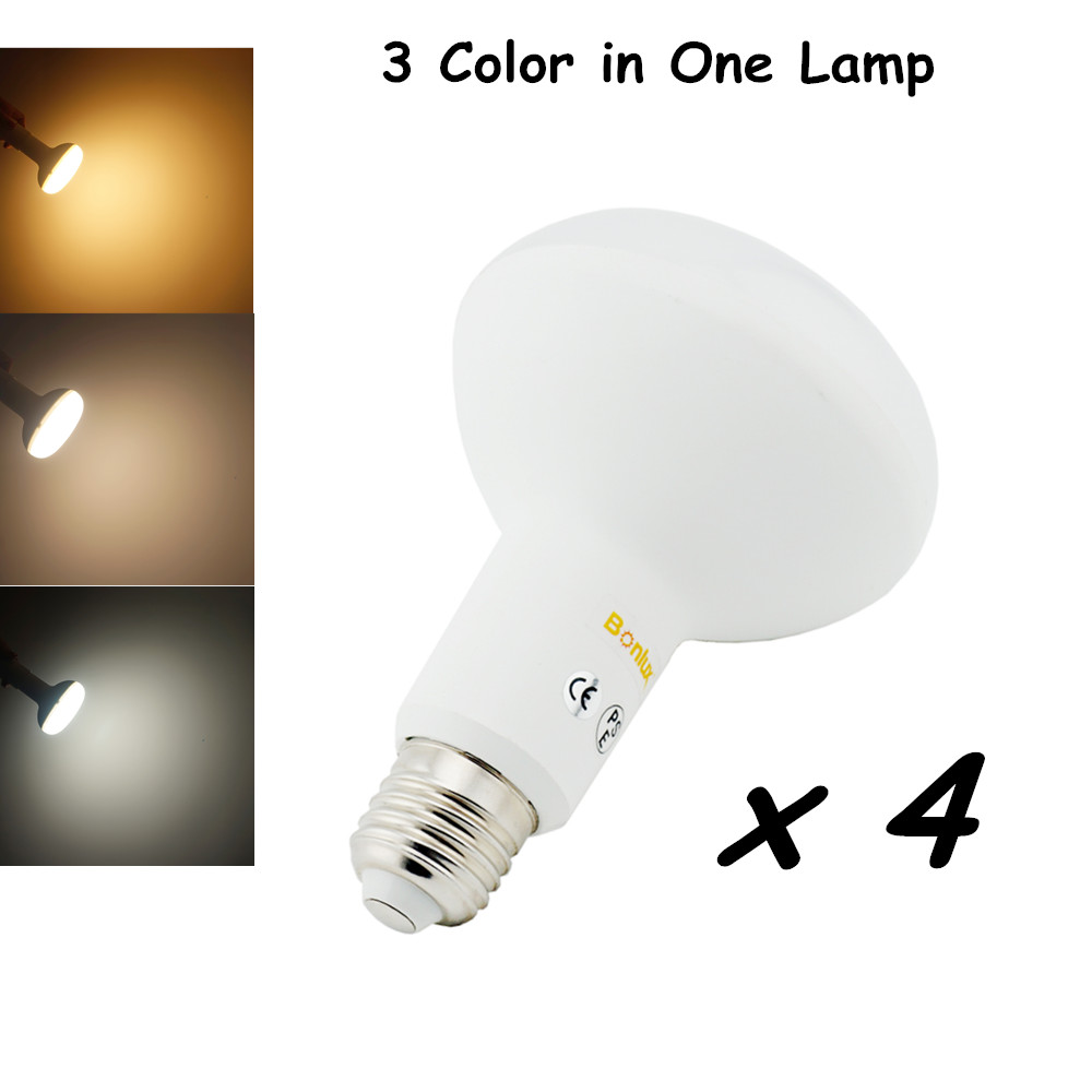 Color Temperature Adjustable BR30 LED Bulb Light 15W 1400lm Replace 75-100w Halogen Lamp with Warm/Cold/Nature White<br><br>Aliexpress
