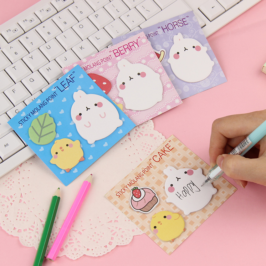1 PCS New Arrival Cute Molang Rabbit N Times Self Adhesive Memo Pad Sticky Notes Notebook School Office Supply(China (Mainland))