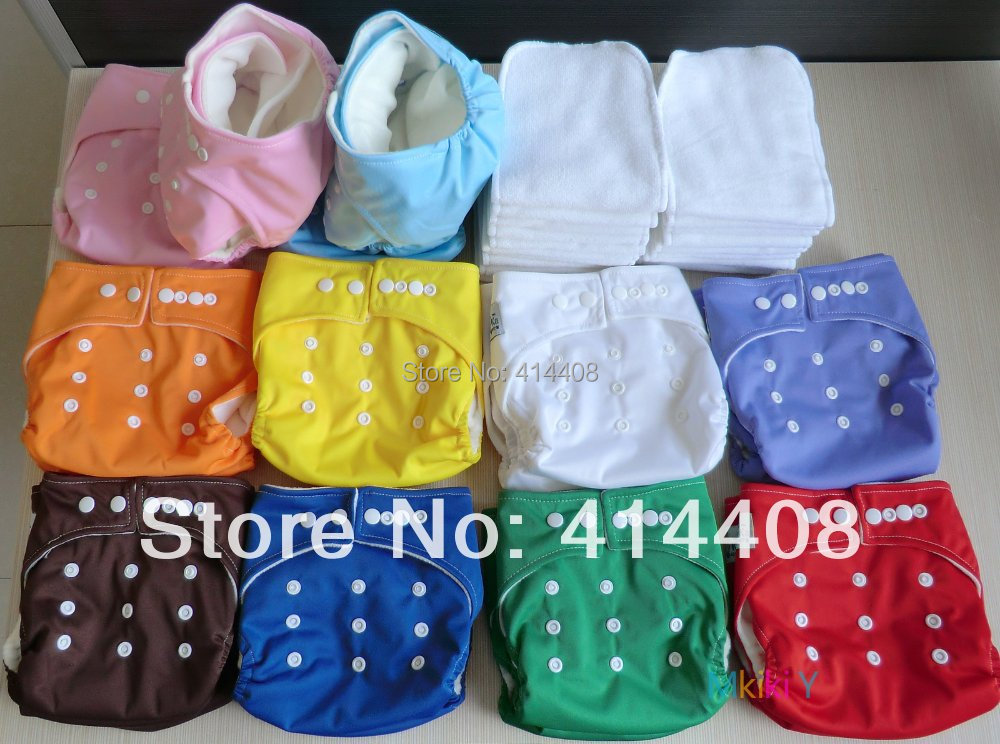 40 BABY NAPPIES CLOTH DIAPERS TPU COVER POCKET LOT WITH 40 pcs LINERS INSERTS ONE SIZE FIT MOST WASHABLE ADJUSTABLE MULTICOLOR<br><br>Aliexpress