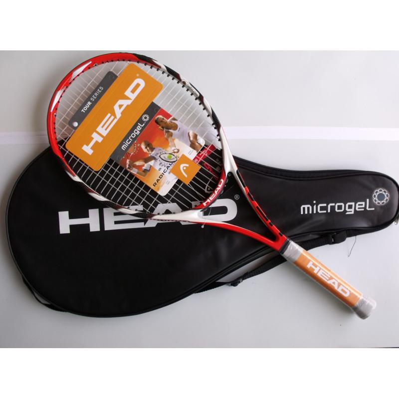 Head tennis racket tenis masculino carbon fiber top quality material free shipping string & bag Sharapova Novak Djokovic racquet(China (Mainland))