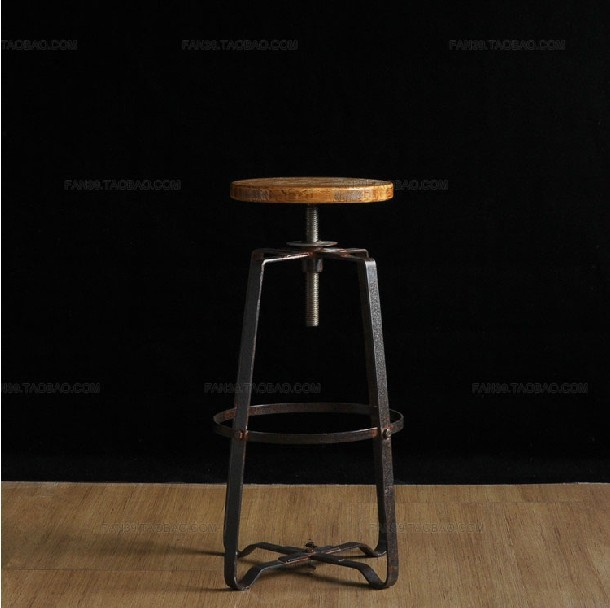 Do the old Continental Iron Front rotating chair bar stool chair lift chair the American Bar Stools(China (Mainland))