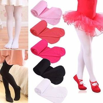 Kids Girls Baby Soft Pantyhose Ballet Dance Socks Velvet S/M/L