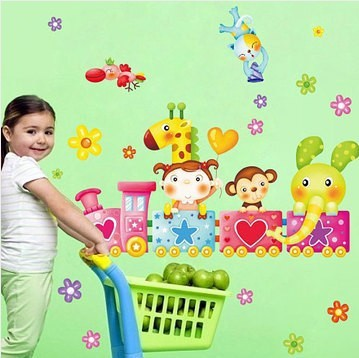 The new three generations of removable wall stickers children's room cupboard refrigerator, washing machine Sticker AM1003(China (Mainland))