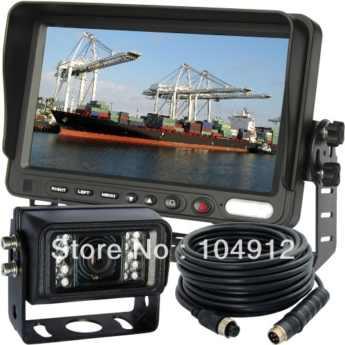 7 INCH REVERSE TFT LCD AGRICULTURE FARM TRACTOR BACK UP REAR VIEW CCD CAMERA SYSTEM(China (Mainland))