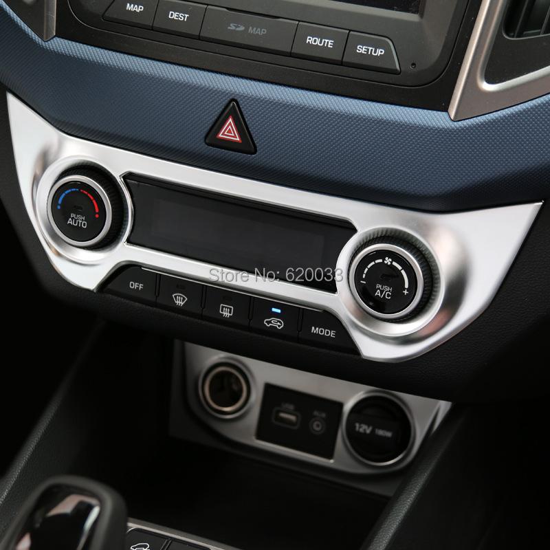 abs chrome car center console control panel trim frame cover sticker auto interior decoration. Black Bedroom Furniture Sets. Home Design Ideas