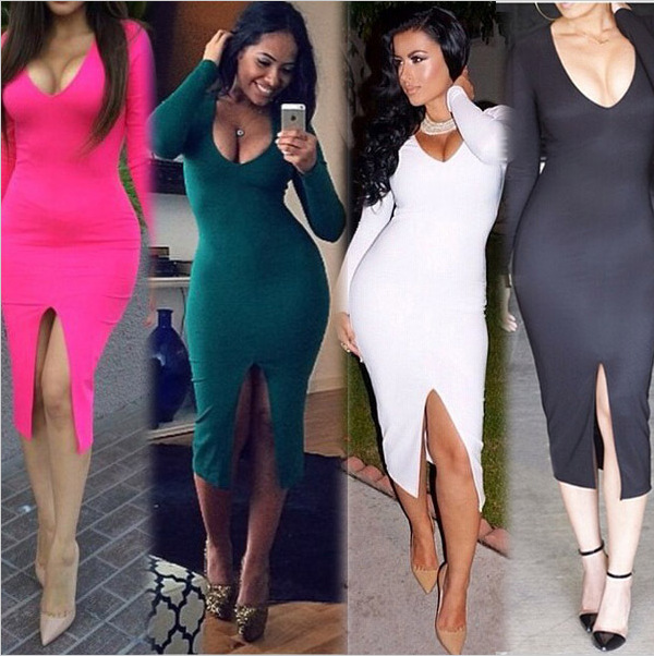 long sleeve bodycon dress plus size « Bella Forte Glass Studio