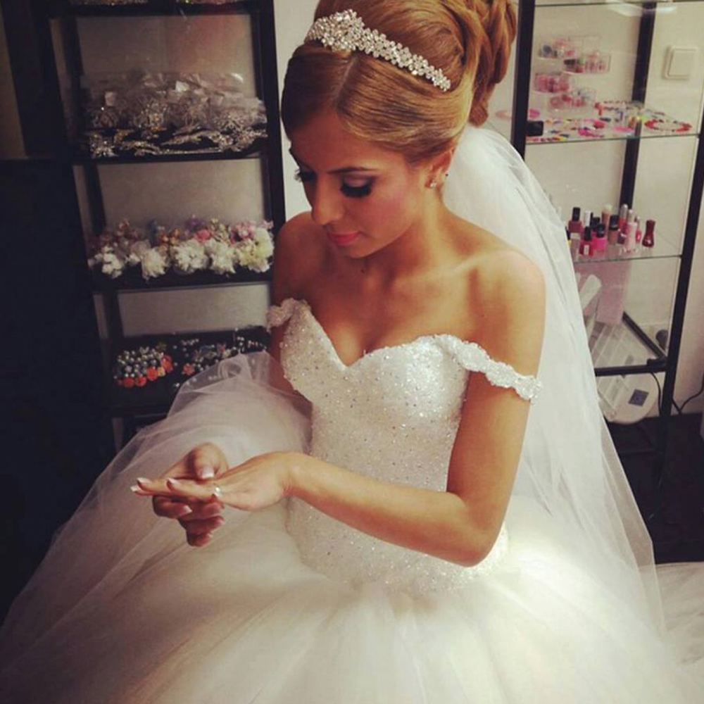big puffy wedding dresses all white wedding with crystal wedding COUTURE GALLERY WHITE AB CRYSTAL CM WIDE BIG Huge Wedding DressesFluffy