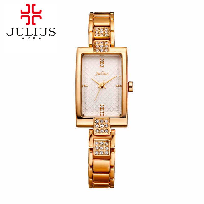 Luxury ladies steel bracelet wristwatch women dress rhinestone watches fashion casual quartz watch Julius 640 Hot selling clock<br><br>Aliexpress