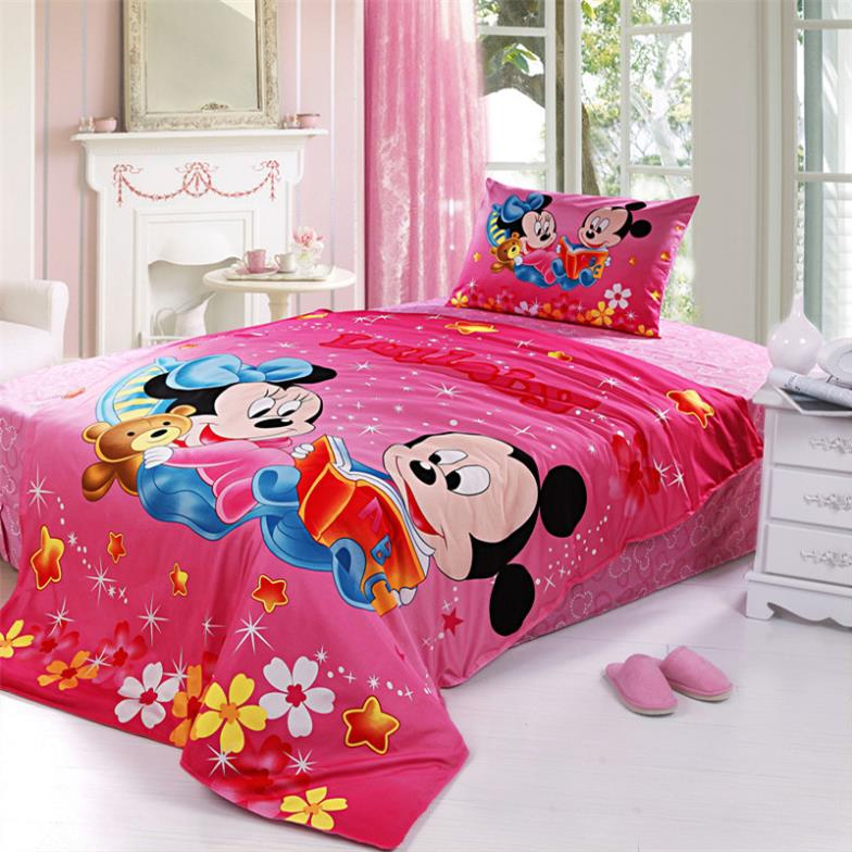 twin bedding set mickey baby mickey minnie housse de couette 100 cotton in bedding sets from. Black Bedroom Furniture Sets. Home Design Ideas