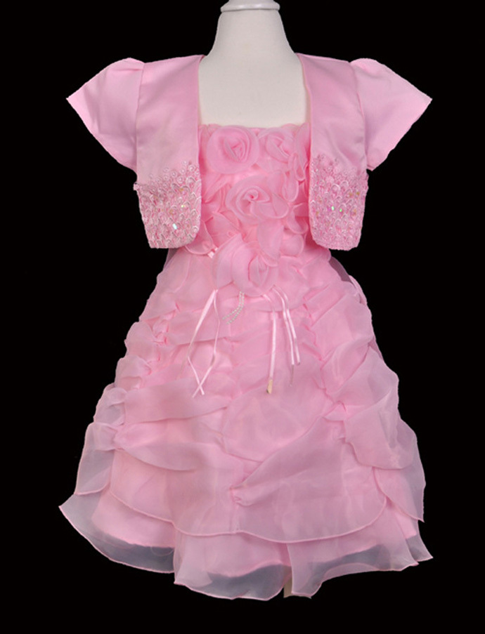 baby girls dress children costumes toddler clothing kid clothes+shawl Short sleeve lace flower pettidress kleidung robe enfant(China (Mainland))
