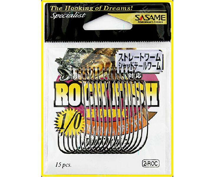 SASAME 2-ROC Bass Sharp Cap Fishing Hooks Offset Shank Wide Gap Worm Hooks, Size 2#-1#-1/0#-2/0#-3/0#(China (Mainland))