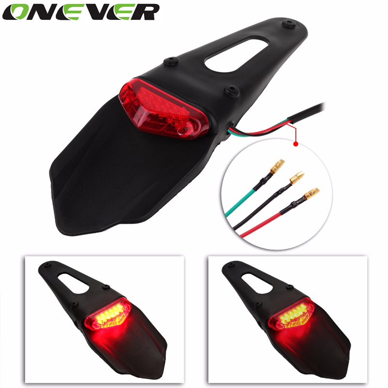 Onever Motorcycle Anti-collision 12V LED Taillight Mounts Anti-fog Parking Stop Brake Lamps Warning Tail Light for Motorcycle(China (Mainland))