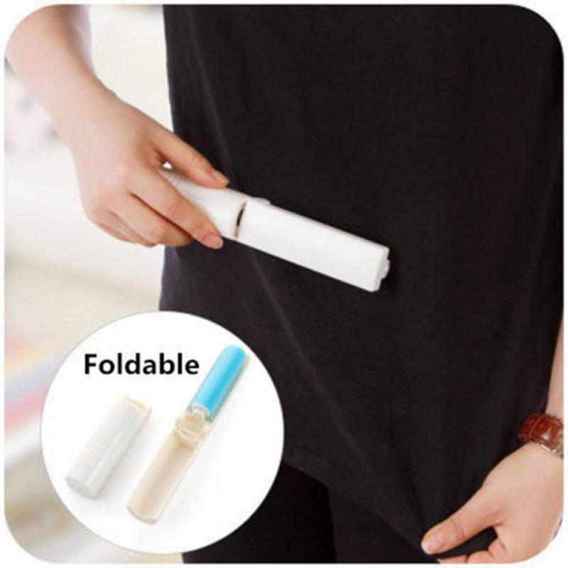 NEW Portable Roller Brush Cleaner Folding Washable Lint Dust Hair Remover Cloth Sticky Dust Removal Brushes(China (Mainland))