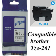 TZe-261 36mm  black on white  TZe-261  brother Label Tape Compatible for Brother   P-Touch brother printer  ribbons