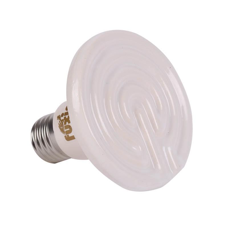 2017 New Black/White E27 25W 50W 75W 100W Mini Infrared Ceramic Emitter Heat Light Lamp Bulb For Reptile Pet Brooder 110V/220V
