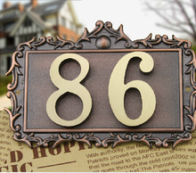 Two Digits House number Pure copper word  Household villa house Archaize street number,gate number(China (Mainland))