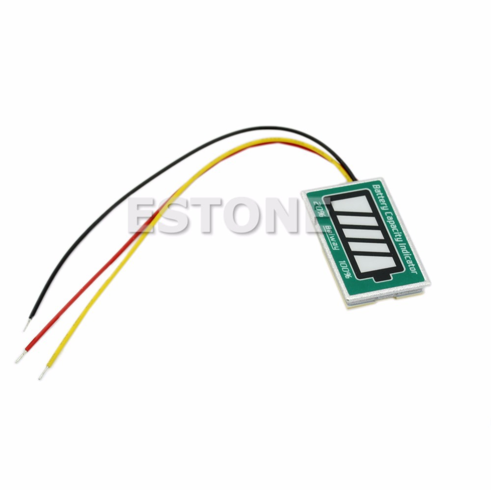 Free Shipping Digital New LED Capacity Tester Indicator led For 12V Lithium LiPo/LiIon Battery<br><br>Aliexpress