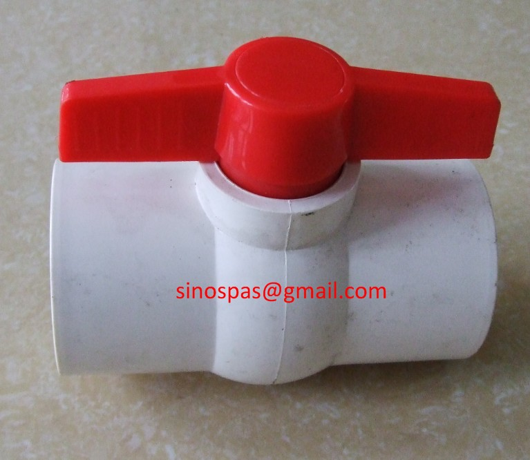 2 Inch PVC Ball Valve-RED: Pool, Spa, Irrigation, Pond, Aquarium, Plumbing(China (Mainland))