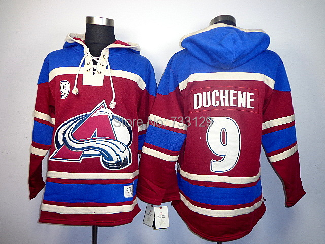 cheap Colorado Avalanche ice hockey Hoody #9 Matt Duchene Men's Jersey Hockey Hoodies Sweatshirts size:m-xxl