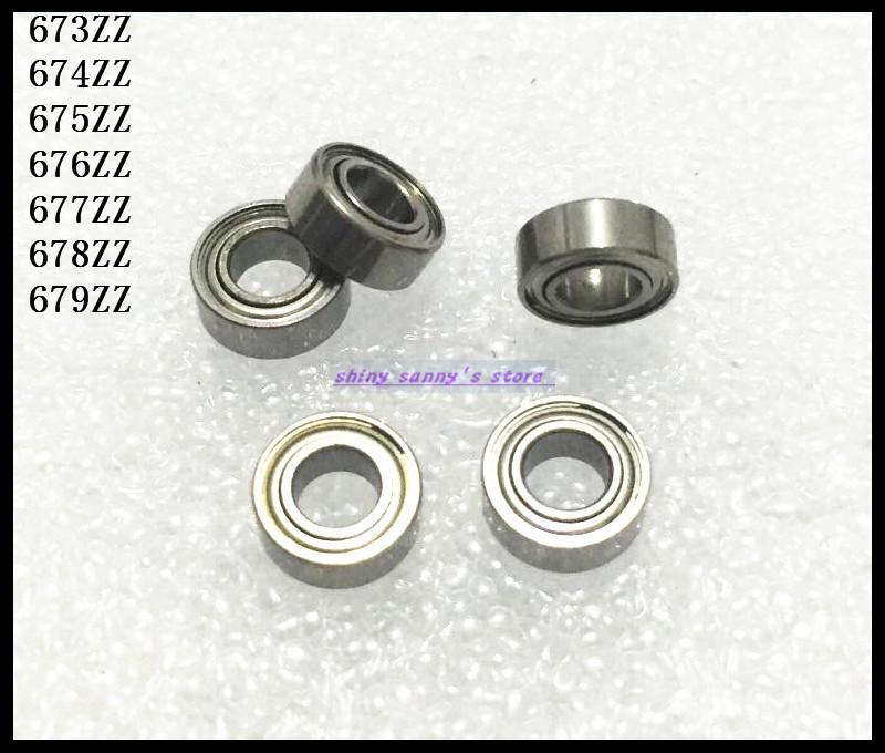 10pcs/Lot 674ZZ 674 ZZ 4x7x2.5mm Thin Wall Deep Groove Ball Bearing Mini Ball Bearing Miniature Bearing Brand New