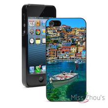 Parga Boat – Greece Protector back skins mobile cellphone cases for iphone 4/4s 5/5s 5c SE 6/6s plus ipod touch 4/5/6