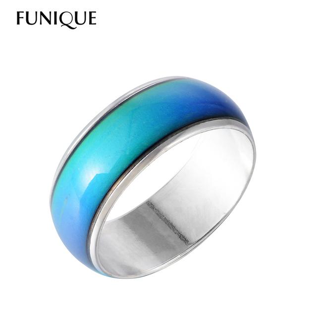 FUNIQUE Моды Творческой Настроение Кольцо для Женщины Ювелирные Изделия Подарок Изменение ...