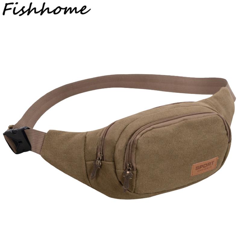 2017 New Vintage Men's Canvas Waist Packs Belt Bag Men Fashion Casual Waist Bags Woman Bag Wallet Small Bags XF009Z(China (Mainland))