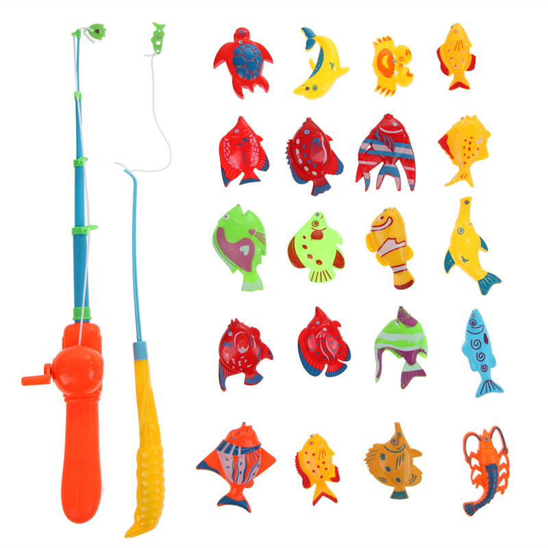20pcs Fish Kids Magnetic Magnet Fishing Toys Kid Children Eearly Educational Toy(China (Mainland))