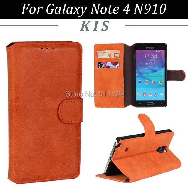 3 Wallet Stand Matte PU Leather Case 2 Card Slots Samsung Galaxy Note 4 N910, - Kis Technology Co.,Ltd store