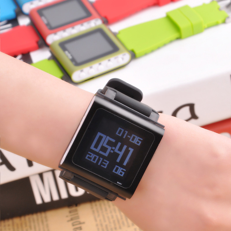 Free Shipping Mini Watch MP3 Player With Screen Video And Voice Recording Function Walkman Music Watch 8GB Clip MP3 Player(China (Mainland))