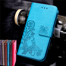 Huawei Honor 5C V8 Y6 4A 5X KIW-TL00H Flip Stand PU Leather Strap Phone Case Four Leaf Clover Card Slot Wallet Gel Cover Bag - BTL Group store