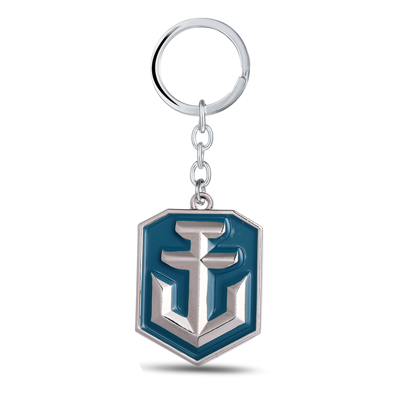 Julie Jewelry World of Warships Game Logo Metal Keychains For Fans New Arrival Game Series Key Rings Llaveros Wholesale & Retail(China (Mainland))
