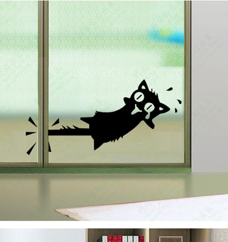Large size 32X16CM funny cartoon cat decoration vinyl decal stickers refrigerator sticker car stickers,s2033(China (Mainland))