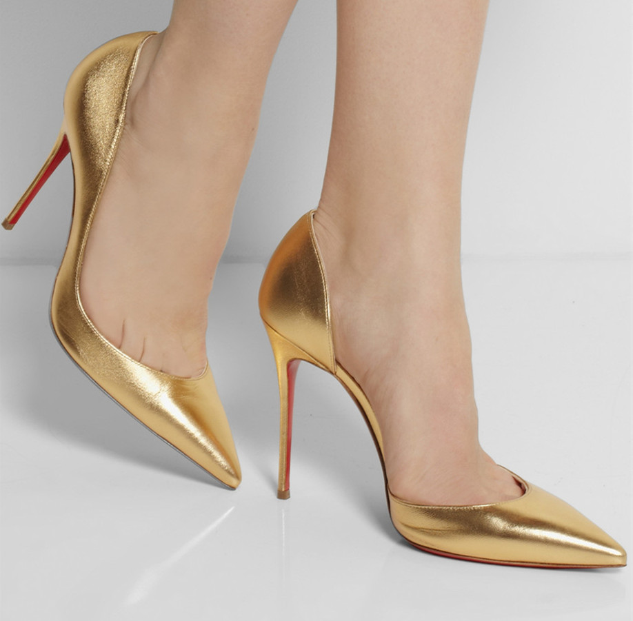 Gold Colored Heels | Tsaa Heel