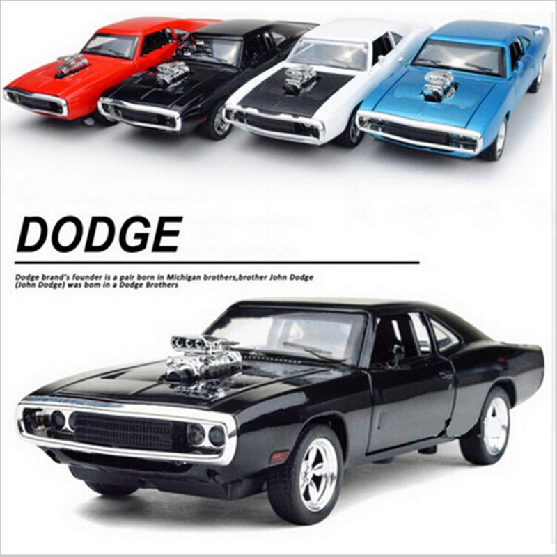1:32 Scale Fast & Furious 7 Alloy Dodge Charger Pull Back Toy Cars Diecast Model Kids Toys Collection Gift For Boys New Year(China (Mainland))