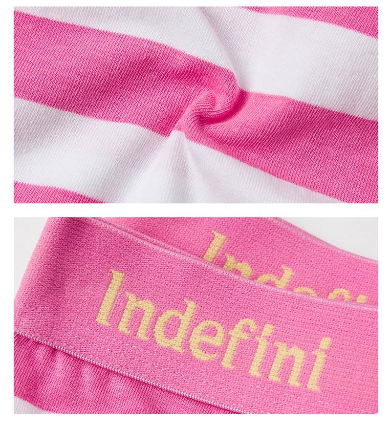 indefini Women's briefs underwear cotton stripe panties Multicolor classic middle waist Lady's underwear women underpants