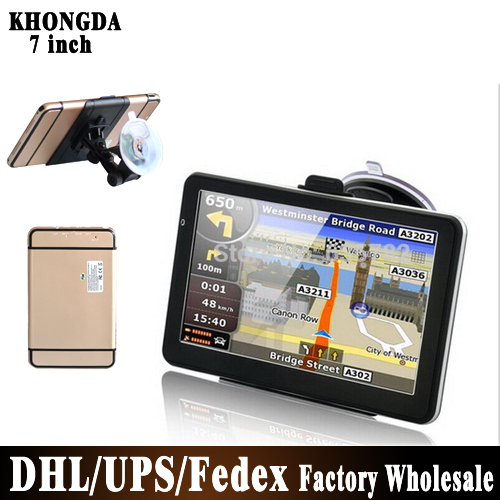 BY DHL UPS 50pcs/lot NO Profit Hot Selling! 7 inch GPS Navigation 4G Free World Map(China (Mainland))