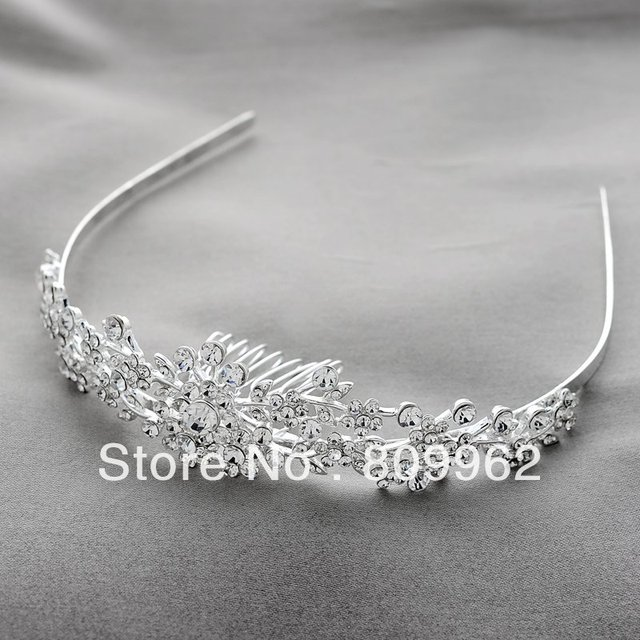 3pcs/ lot Fashion Rhinestone Hair Accessories Jewelry For Woman Wedding Crystal Tiara Princess Crown Hair Jewelry