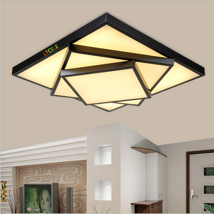 Modern Brief Style Square Led Ceiling Lights For Living Room Bedroom Restaura