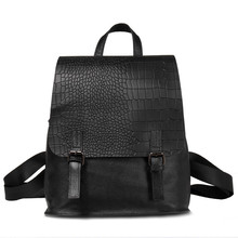 Buy Women Genuine Leather Backpack Girls College Female Fashion Backpacks 3D Crocodile Woman Back Pack Daily Backpack Womens for $149.99 in AliExpress store