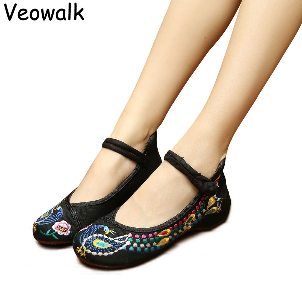 Buy Veowalk Classical Fashion Women Shoes Old Beijing Mary Jane Flats Casual