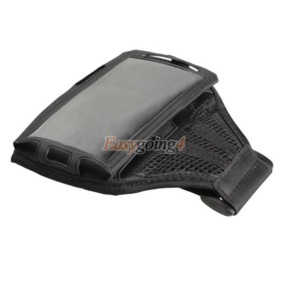 EA14 Sport Armband Case Mesh Running Arm Band for Samsung Galaxy I9500 S4 Black