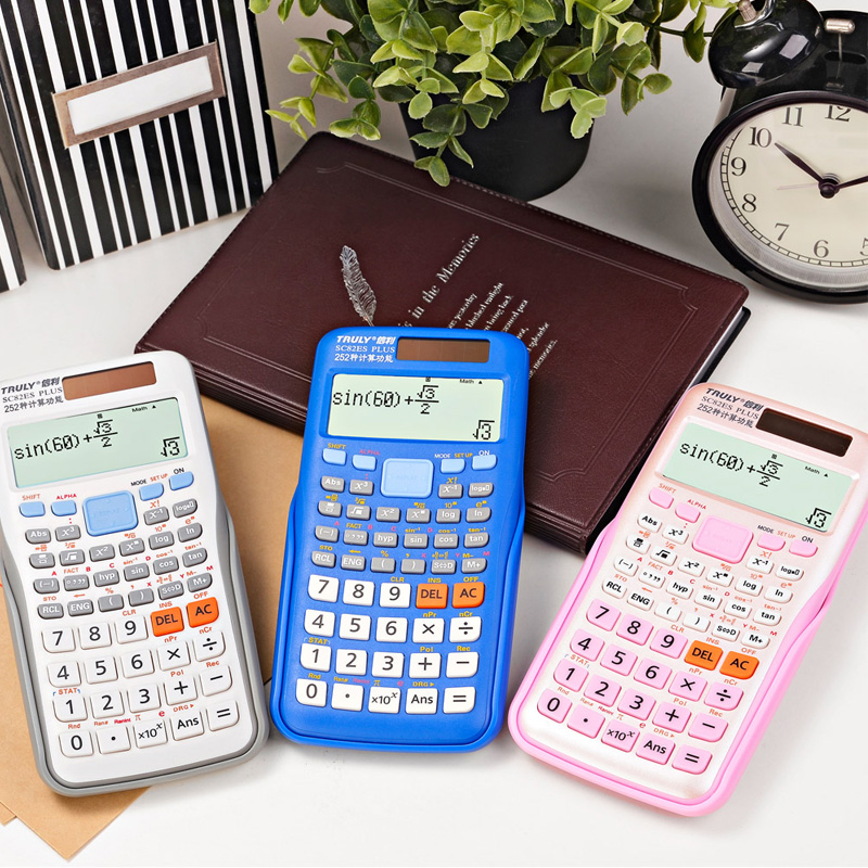 Solar LED Calculator Scientific Sc 82es Calculations with 249 Function Better Than 991ES Dual Power Color Calculadora Cientifica(China (Mainland))