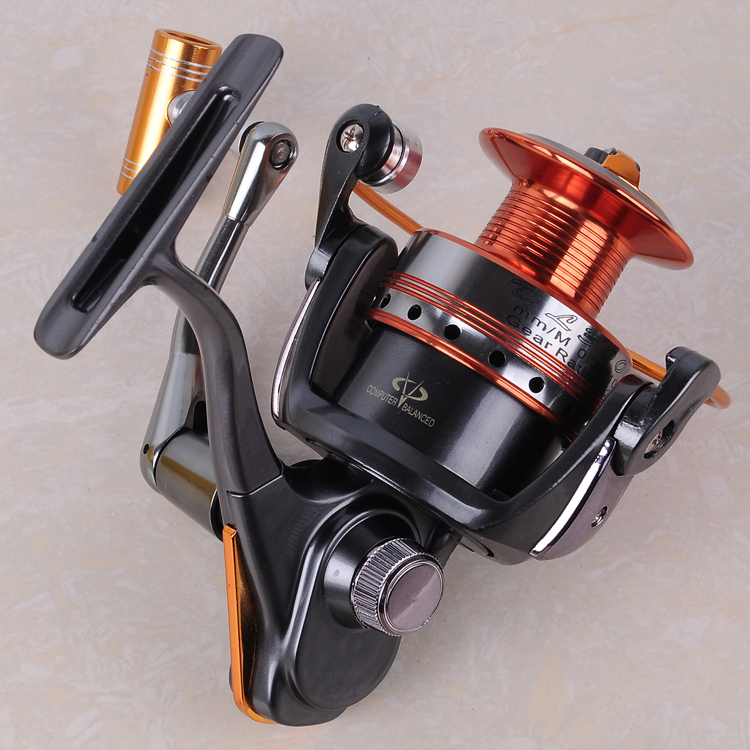 2017 12BB+1BB High Power Gear Metal Spinning Spool Aluminum Fishing Reel 3000 Free Shipping(China (Mainland))