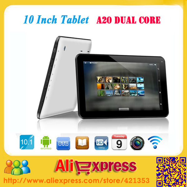 New Arrival Dual Core 10 inch Tablet PC Android 4.2 1GB/8GB Dual Camera 6000mah Battery HDMI(China (Mainland))
