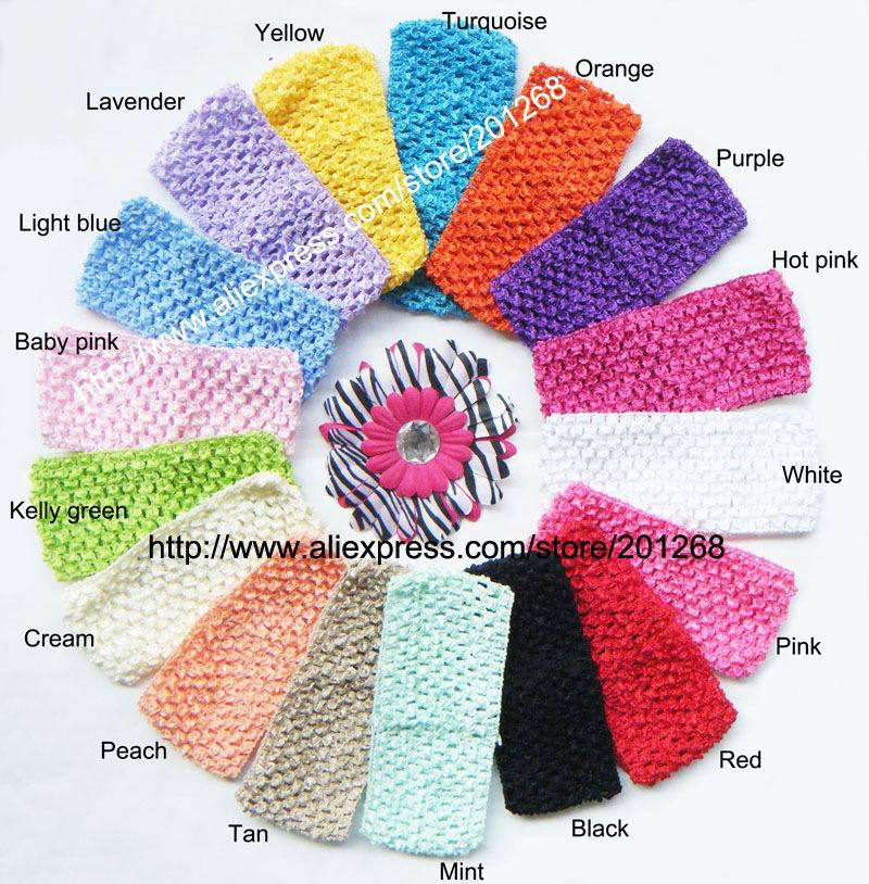 UPS Free shipping Crochet headband waffle headband for toddler 2.75inch 10 hot sale colors in stock U Pick<br><br>Aliexpress
