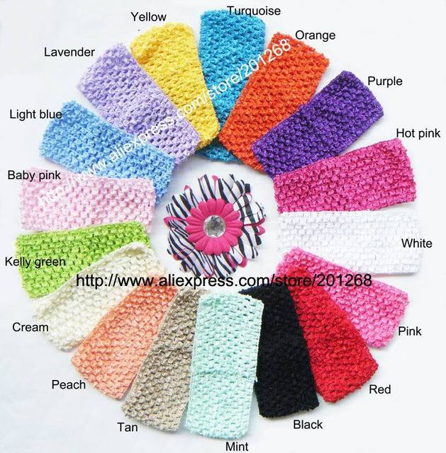 "2.75"" wide Crochet headband waffle headband for toddler 2.75inch 17 hot sale colors in stock U Pick"