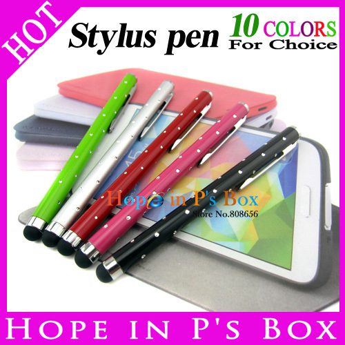 200pcs wholesale Capacitive Stylus Polka Touch Pen with Diamond for iPhone iPad Tablet PC Cellphone,for /Sony Xperia Tablet(China (Mainland))
