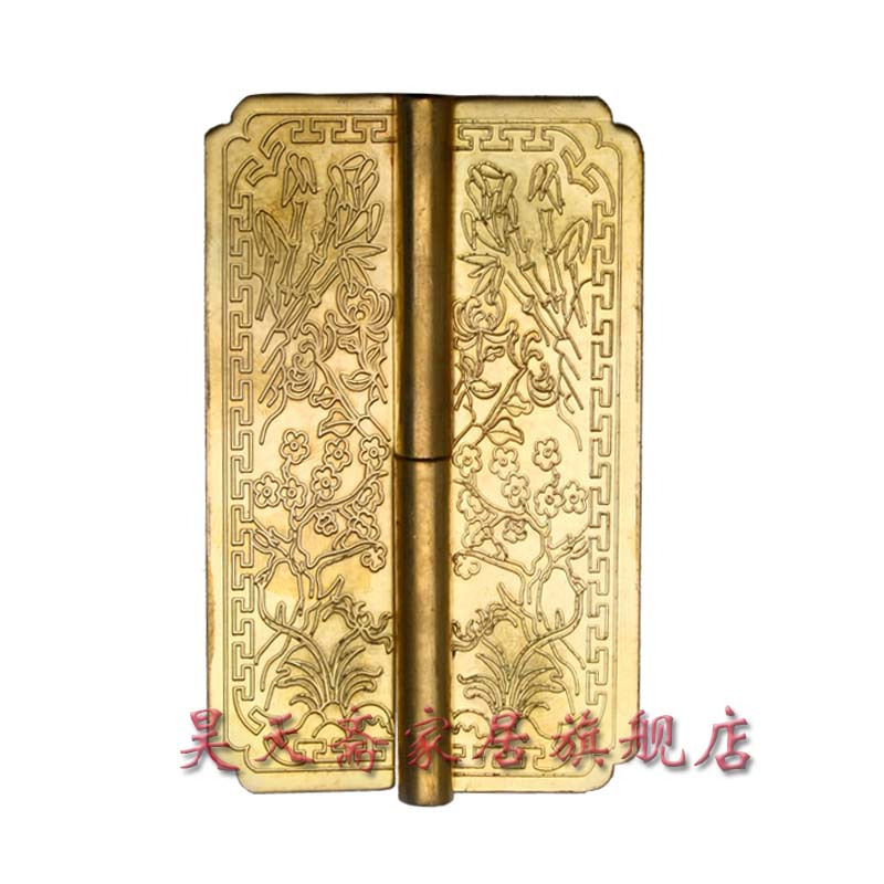 [Haotian vegetarian] Chinese decoration door hinges antique Ming and Qing copper doors live HTF-046(China (Mainland))