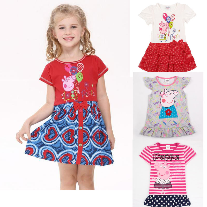 Big sale nova baby toddler girl dress 2015 new summer brand high quality party birthday dress china cheap(China (Mainland))